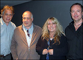 L-R: David Stark, producer/engineer Haydn Bendall (who replaced Andy Wright at short notice), legendary singer/songwriter Judie Tzuke and songwriter Martin Sutton