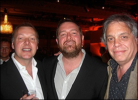 L-R: Mark Fishlock (BASCA), Guy Garvey (Elbow) and David Stark (SongLink)