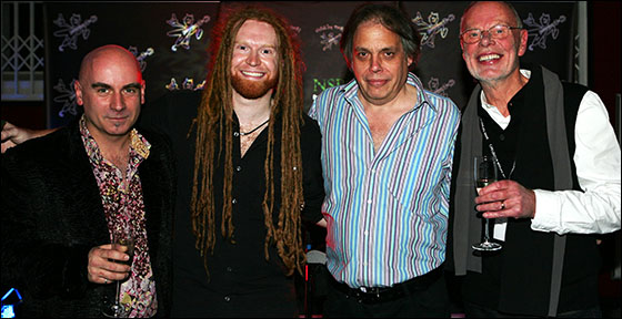 L-R: Tony Moore, Newton Faulkner, David Stark and Bob Harris.
