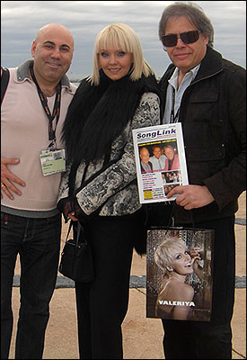 David at Midem 09 with Russian superstar Valeriya and husband/manager Josef.
