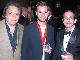 David Stark with Al Shux (co-writer 'Empire State') and Miller Williams (Global Music Publishing)