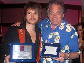 Ben Champion and David Stark with the Critics Award
