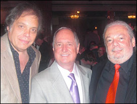 David Stark, Neil Sedaka and Ellis Rich (Chairman, PRS For Music)