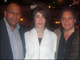 John Fleming, international winner Imogen Heap and David Stark