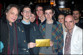 David Stark and Tony Moore with Dan Croll and his band