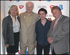 BASCA Chair Sarah Rogers, host Paul Gambaccini, nominee Conor O'Brien and PRS Chairman Guy Fletcher