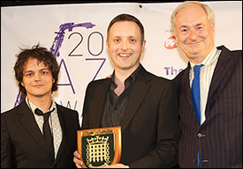 Jamie Cullum, Allon Beauvoisin of Brass Jaw - Jazz Ensemble of the Year
