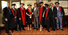 The new Companions of LIPA line up with Sir Paul