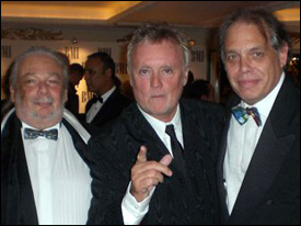 SongLink's David Stark with Roger Taylor and former PRS chairman Ellis Rich