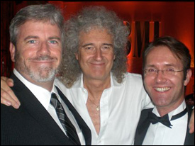 BMI's Jim King with Brian May and Shazam CEO Andrew Fisher