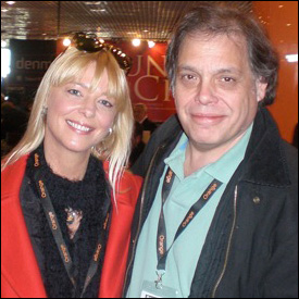 David Stark at MIDEM 2011 with Cathi Ogden of APRA