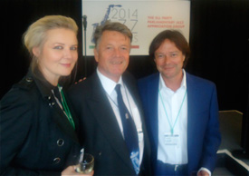 PPL Chairman Fran Nevrkla with Vick Bain and Simon Darlow (BASCA)