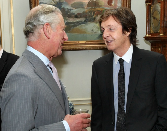 Prince Charles and Paul McCartney