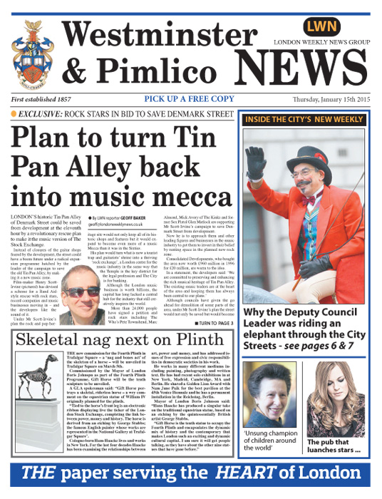 Westminster and Pimlico News, 15.1.15