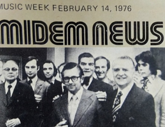 MIDEM 1976 (David far right)