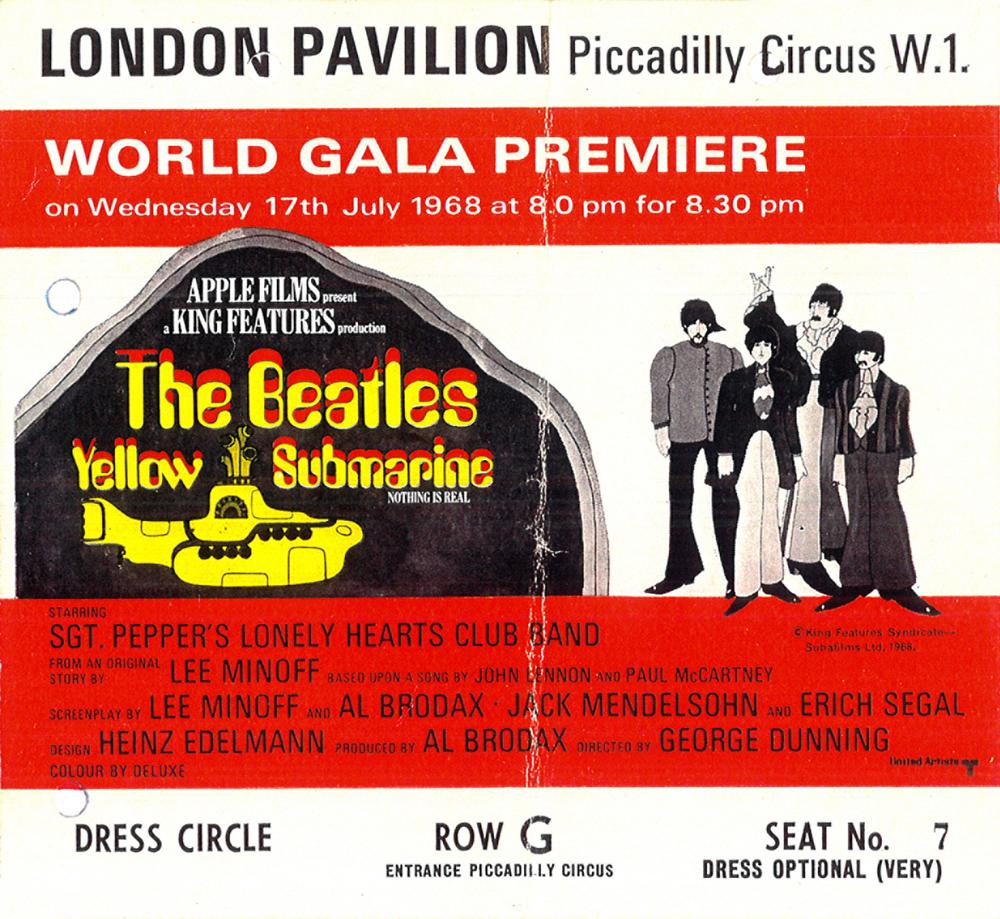 Yellow Submarine ticket