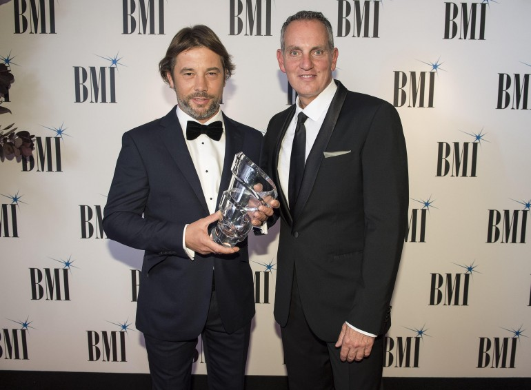 Jay Kay and BMI's Mike O'Neill