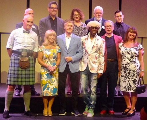 The new Companions of LIPA with Paul McCartney and Mark Featherstone-Witty