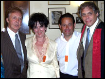 Paul McCartney with singer Susan Black, Nigel Stark and David Stark