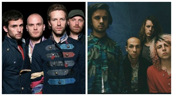 Coldplay and the Mystery Jets